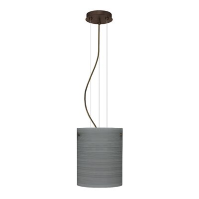 Tamburo Pendant Size / Glass Shade: 9.875 H x 7.875 W x 7.875 D / Titan, Finish: Bronze