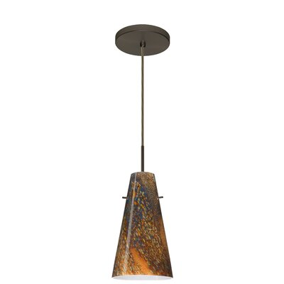 Cierro 1-Light Pendant Finish: Bronze, Glass Shade: Ceylon