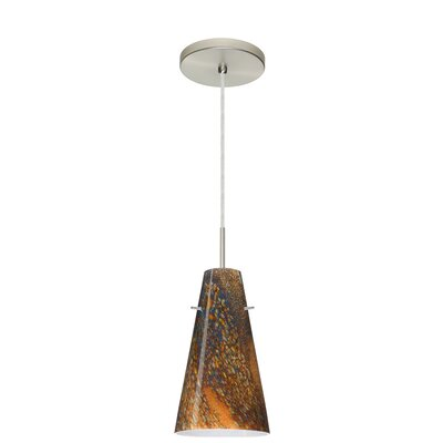 Cierro 1-Light Pendant Finish: Satin Nickel, Glass Shade: Ceylon
