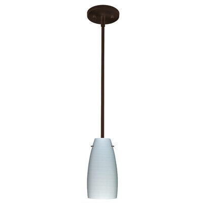 Tao 1-Light Pendant Finish: Bronze, Glass Shade: Chalk, Bulb Type: Incandescent