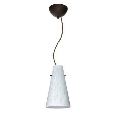 Cierro 1-Light Mini Pendant Finish: Bronze, Bulb Type: Incandescent