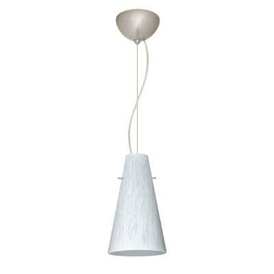 Cierro 1-Light Mini Pendant Bulb Type: Incandescent, Finish: Satin Nickel