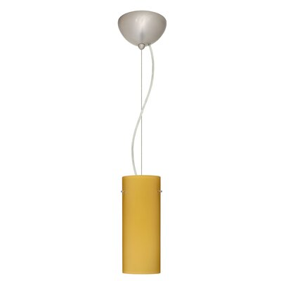 Stilo 1-Light Mini Pendant Finish: Satin Nickel, Shade Color: Vanilla Matte, Bulb Type: Incandescent