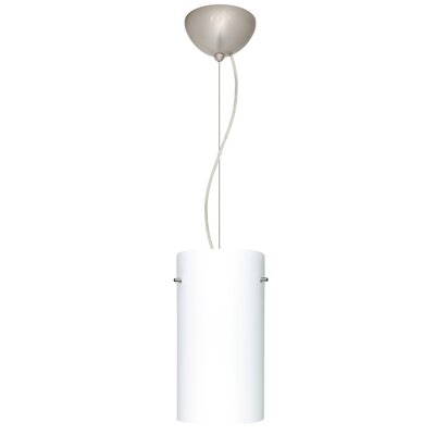 Tondo 1-Light Pendant Finish: Satin Nickel, Shade Color: Opal Matte
