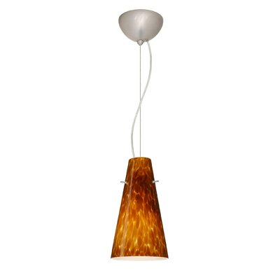 Cierro 1-Light Mini Pendant Shade Color: Amber Cloud, Bulb Type: LED, Finish: Satin Nickel