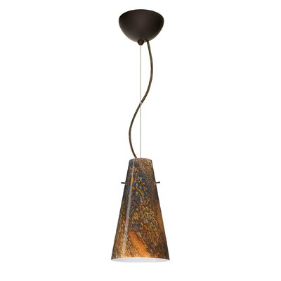 Cierro 1-Light Mini Pendant Bulb Type: Incandescent, Finish: Bronze