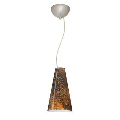 Cierro 1-Light Mini Pendant Finish: Satin Nickel, Bulb Type: Incandescent