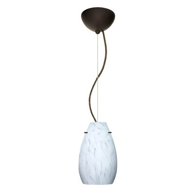 Pera 1-Light Mini Pendant Finish: Bronze, Bulb Type: LED
