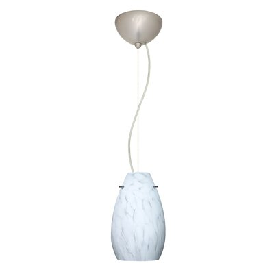 Pera 1-Light Mini Pendant Bulb Type: Incandescent, Finish: Satin Nickel