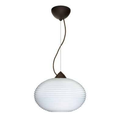 Pape 1-Light Mini Pendant Finish: Bronze, Bulb Type: Incandescent