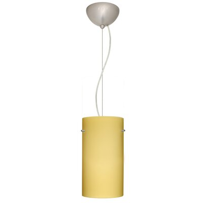 Tondo 1-Light Pendant Finish: Satin Nickel, Shade Color: Vanilla Matte