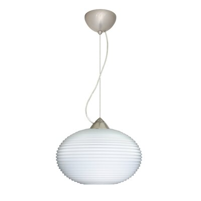 Pape 1-Light Mini Pendant Bulb Type: LED, Finish: Satin Nickel