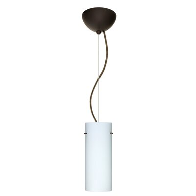 Stilo 1-Light Mini Pendant Finish: Bronze, Shade Color: Opal Matte, Bulb Type: LED