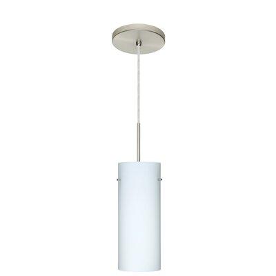 Stilo 1-Light Mini Pendant Finish: Satin Nickel, Glass Shade: Opal Matte, Bulb Type: LED