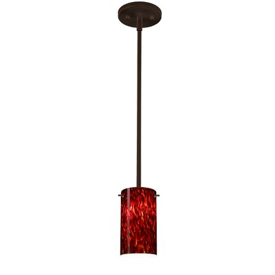 Stilo 1-Light Mini Pendant Finish: Bronze, Shade Color: Garnet, Bulb Type: Incandescent