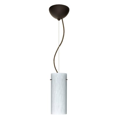 Stilo 1-Light Mini Pendant Finish: Bronze, Bulb Type: Incandescent