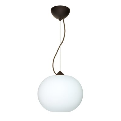 Luna 1-Light Mini Pendant Finish: Bronze, Shade Color: Opal Matte, Bulb Type: Indandescent