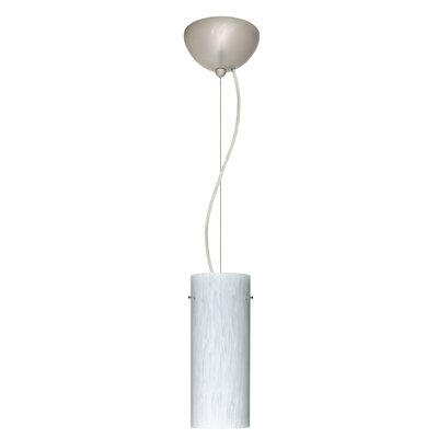 Stilo 1-Light Mini Pendant Finish: Satin Nickel, Bulb Type: Incandescent