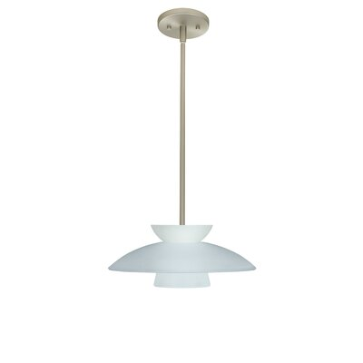 Trilo 1-Light Pendant Finish: Satin Nickel, Glass Shade: Frost, Bulb Type: LED
