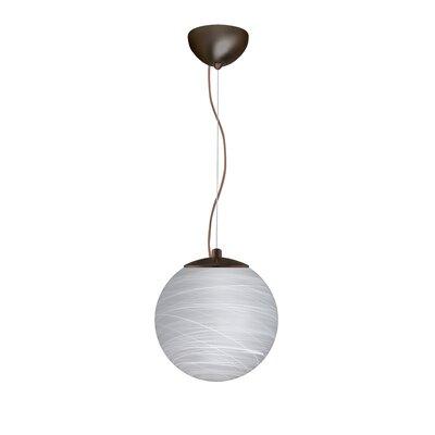 Callisto 1 LED Integrated Bulb Globe Pendant Finish: Brushed Bronze, Size: 11.5 H x 11.75 W x 11.75 D