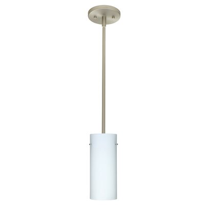 Stilo 1-Light Mini Pendant Finish: Satin Nickel, Glass Shade: Opal Matte, Bulb Type: Incandescent