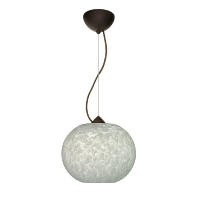 Luna 1-Light Mini Pendant Finish: Bronze, Bulb Type: LED