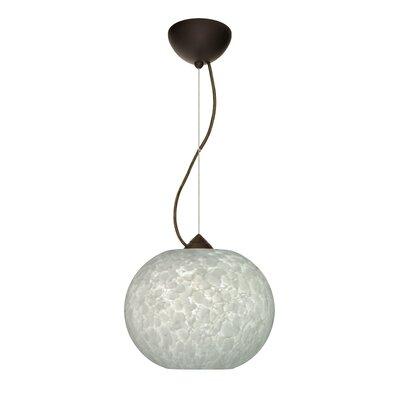 Luna 1-Light Mini Pendant Finish: Bronze, Bulb Type: Incandescent