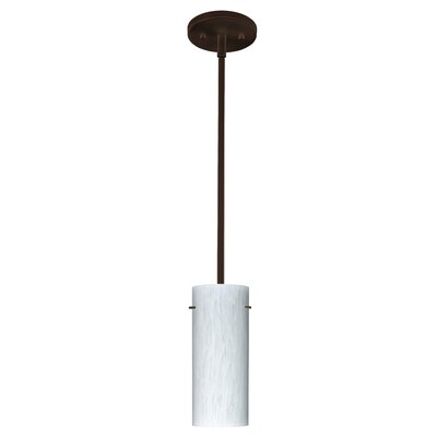 Stilo 1-Light Mini Pendant Finish: Bronze, Glass Shade: Carrera, Bulb Type: Incandescent