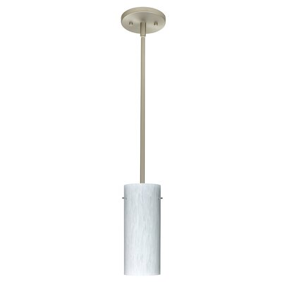 Stilo 1-Light Mini Pendant Finish: Satin Nickel, Glass Shade: Carrera, Bulb Type: Incandescent