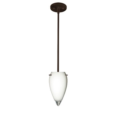 Juli 1-Light Pendant Finish: Bronze, Glass Shade: Opal Glossy, Bulb Type: LED
