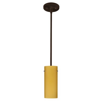 Stilo 1-Light Mini Pendant Finish: Bronze, Glass Shade: Vanilla Matte, Bulb Type: LED
