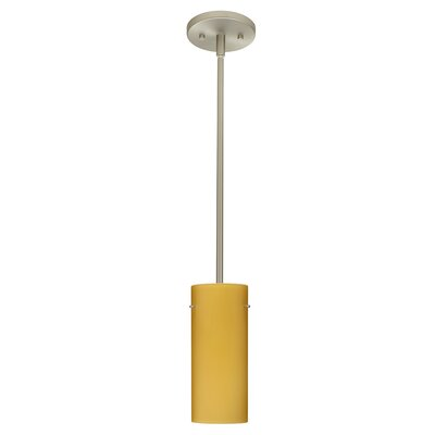 Stilo 1-Light Mini Pendant Finish: Satin Nickel, Glass Shade: Vanilla Matte, Bulb Type: LED