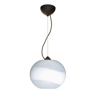 Luna 1-Light Mini Pendant Finish: Bronze, Bulb Type: Incandescent
