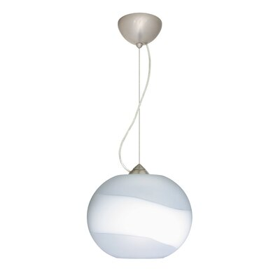 Luna 1-Light Mini Pendant Bulb Type: Incandescent, Finish: Satin Nickel