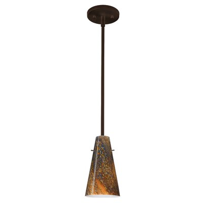 Cierro 1-Light Pendant Finish: Bronze, Glass Shade: Ceylon, Bulb Type: LED