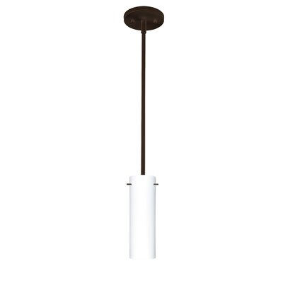 Copa 1-Light Mini Pendant Finish: Bronze, Shade Color: Opal Matte, Bulb Type: Incandescent