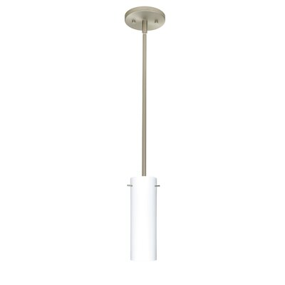 Copa 1-Light Mini Pendant Finish: Satin Nickel, Shade Color: Opal Matte, Bulb Type: LED