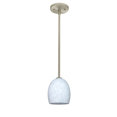 Lucia 1-Light Pendant Finish: Satin Nickel, Glass Shade: Carrera, Bulb Type: LED