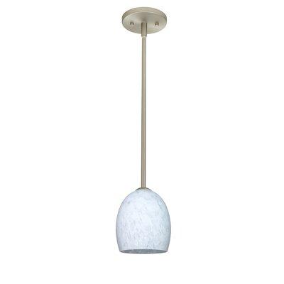 Lucia 1-Light Pendant Finish: Satin Nickel, Glass Shade: Carrera, Bulb Type: LED