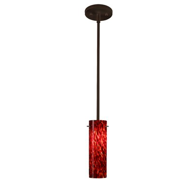 Copa 1-Light Mini Pendant Finish: Bronze, Shade Color: Garnet, Bulb Type: Incandescent