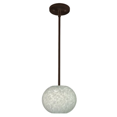 Luna 1-Light Pendant Finish: Bronze, Glass Shade: Carrera, Bulb Type: Incandescent