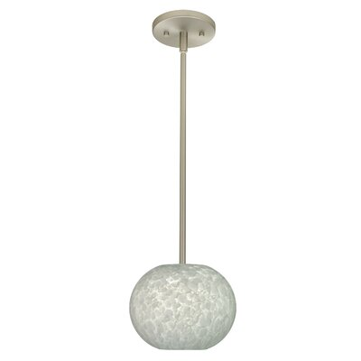 Luna 1-Light Pendant Finish: Satin Nickel, Glass Shade: Carrera, Bulb Type: LED
