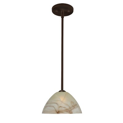 Tessa 1-Light Mini Pendant Finish: Bronze, Glass Shade: Mocha, Bulb Type: LED