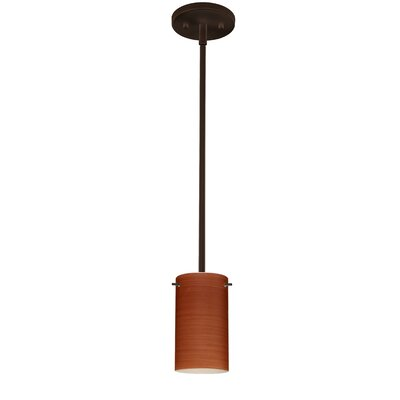 Stilo 1-Light Mini Pendant Finish: Bronze, Bulb Type: Incandescent, Shade Color: Cherry