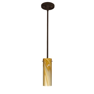 Copa 1-Light Mini Pendant Finish: Bronze, Bulb Type: Incandescent