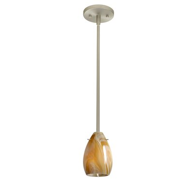 Pera 1-Light Mini Pendant Finish: Satin Nickel