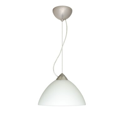 Tessa 1-Light Mini Pendant Finish: Satin Nickel, Shade Color: White, Bulb Type: Incandescent