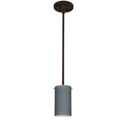 Stilo 1-Light Mini Pendant Finish: Bronze, Bulb Type: Incandescent, Shade Color: Titan