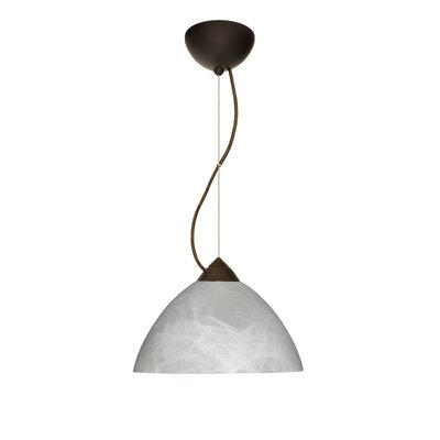 Tessa 1-Light Mini Pendant Finish: Bronze, Bulb Type: Incandescent