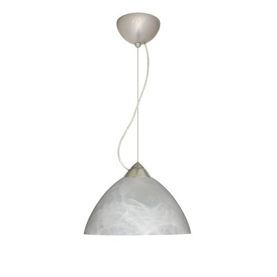 Tessa 1-Light Mini Pendant Finish: Satin Nickel, Bulb Type: LED